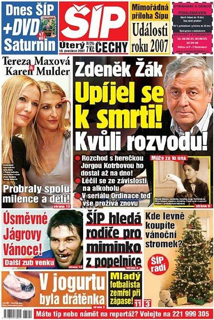 Titulka 18. 12. 2007
