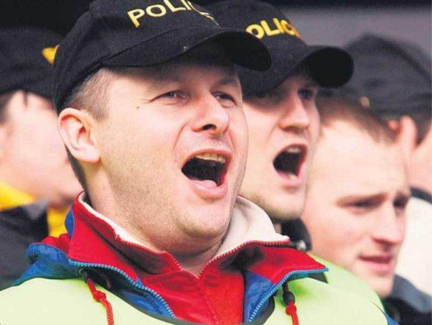 Demonstrace policistů