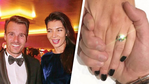Monika dostala prsten za půl milionu korun.