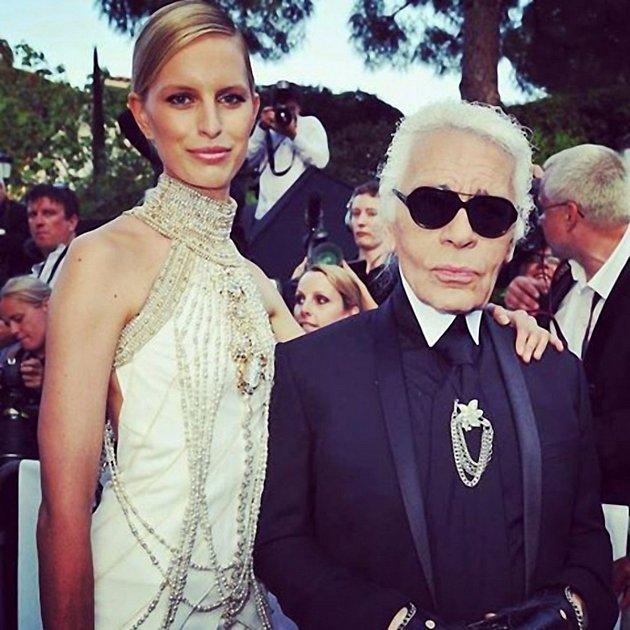 Karl Lagerfeld a Karolina Kurkova