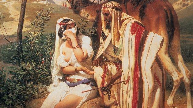 Zahalená Támar svádí svého tchána.