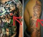Někdo si nechal udělat stejné tetování, tatér mu vytetoval i bradavku