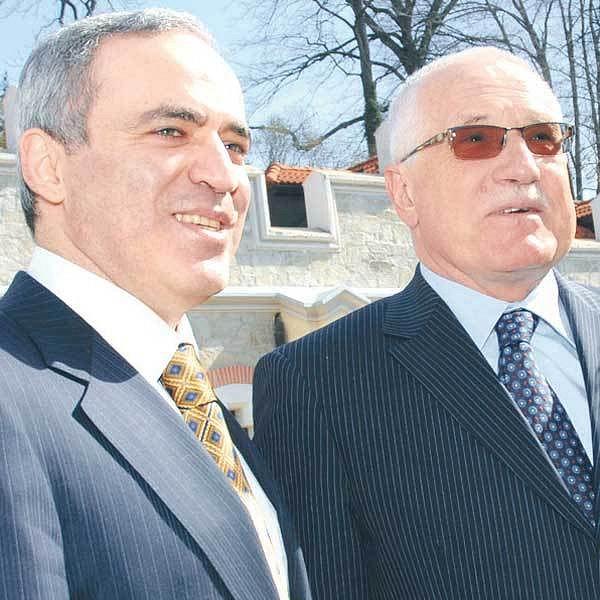 Václav Klaus s Garrim Kasparovem