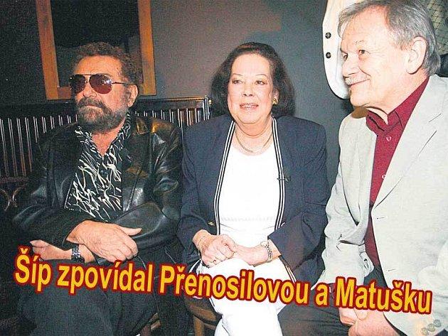 Hosty Všechnopárty Karla Šípa na téma Návraty domů byli tentokrát Matuška s Přenosilovou.