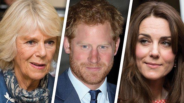 Harry se dostal do soukolí mezi Camillou a Kate