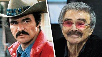 Burt Reynolds v dobách největší slávy a nyní.