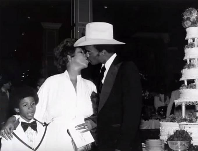 Aretha Franklin a manžel Glynn Turman v roce 1978.