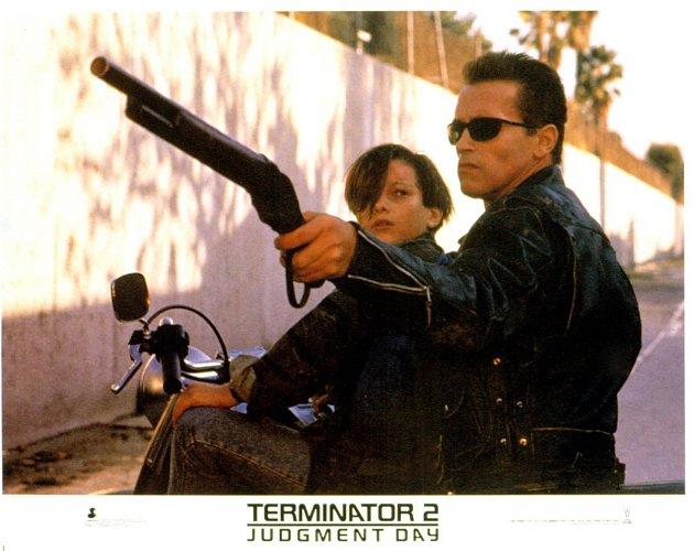 Edward Furlong a Arnold Schwarzenegger