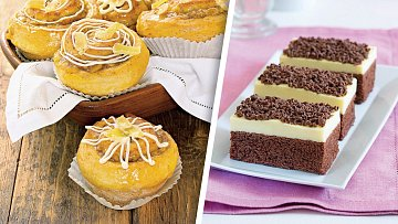 Mandlové muffiny a perník skrémem