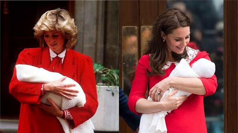 Média velmi často porovnávají princeznu Dianu s manželkou jejího syna Williama, Kate Middletonou. Předmětem srovnávání je nejen jejich chování, vztah k potomkům, ale i styl.