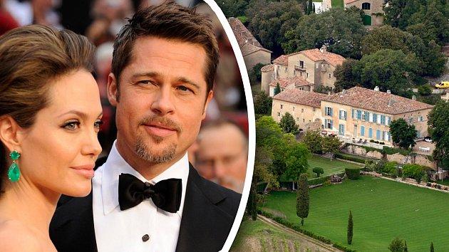 Pár přezdívaný Brangelina se vzal na francouzském zámku Miravel.