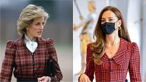 Princezna Diana a Kate Middleton