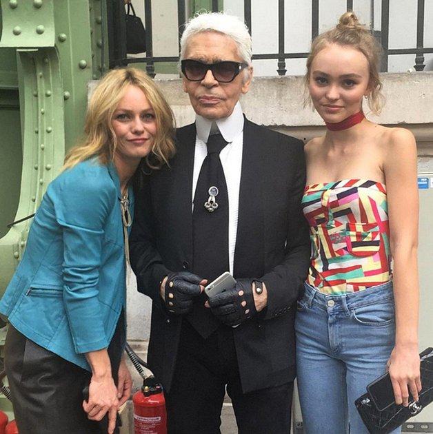Karl Lagerfeld, Vanessa Paradis a Lily Rose Depp