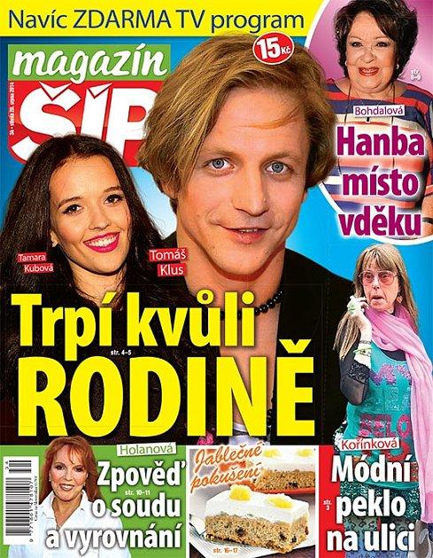 Titulní strana Magazínu Šíp 20.8.2014