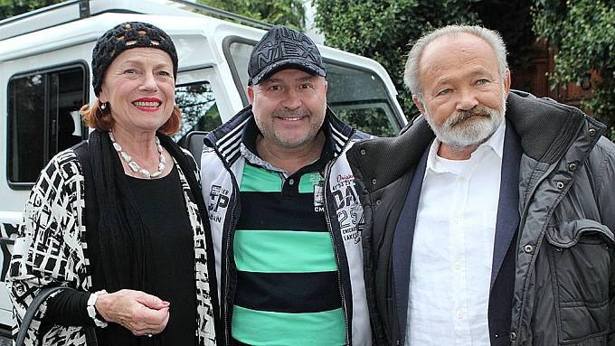 Iva Janžurová, Michal David a Rudolf Hrušínský ml.