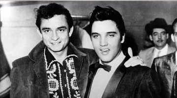 Elvis Presley a Johnny Cash v roce 1967.