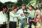 Záběr ze sovětského sci-fi Sannikovova země (1974)