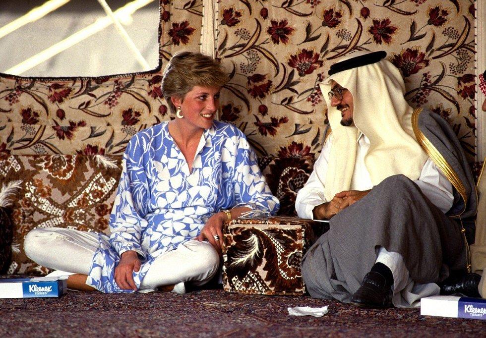 Diana navštěvovala země po celém světě.