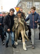 O nejslavnější z rodu Kardashianů byl na Islandu enormní zájem.