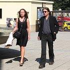 Aleš Brichta a bývalá přítelkyně Nina