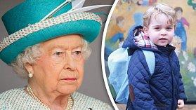 Princ George a jeho prababička Alžběta II.