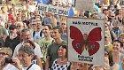 Motýle je všude, i na demonstracích
