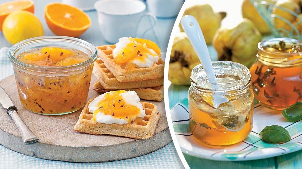 Marmeláda citrusová slevandulí a jablečné želé sbazalkou