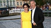 Libuše Šmuclerová a Dominik Hašek na letošním filmovém festivalu v Karlových Varech