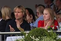 Pavel Nedvěd s Lucií Anovčínovou