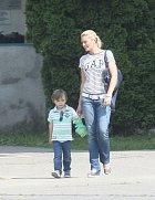 Lucie se čtyřletým Lucasem