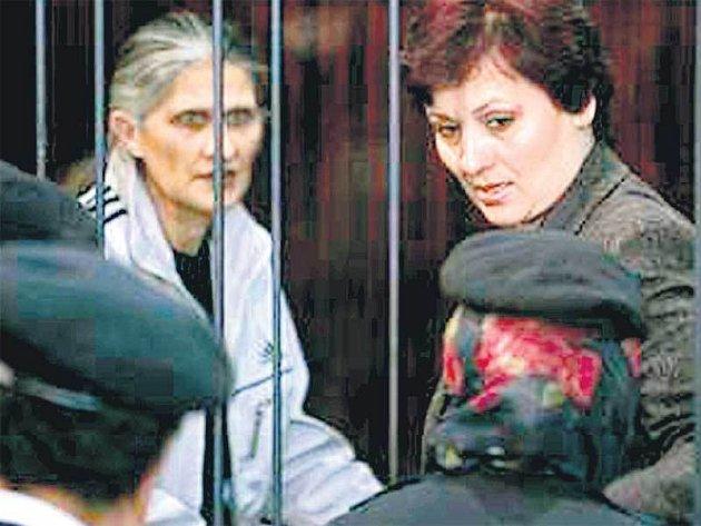 Dvě z odsouzených bulharských zdravotních sester.