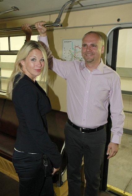 Sabina a generální ředitel Dopravního podniku Milan Křístek