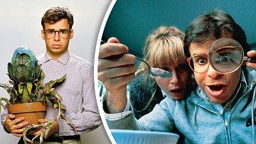 Záběry zfilmů Malý krámek hrůz (1986) a Co je malý, to je hezký (1989).