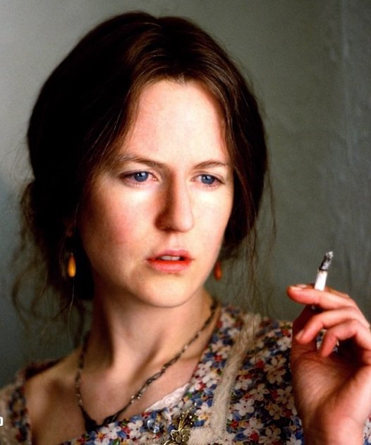 Nicole Kidman jako Virginia Woolf ve filmu Hodiny.
