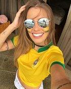 Brazilská modelka Paola Antoniniová je krásná žena.