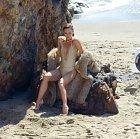 Vanessa Paradis při focení v Malibu