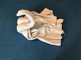 Labuť z ručníků