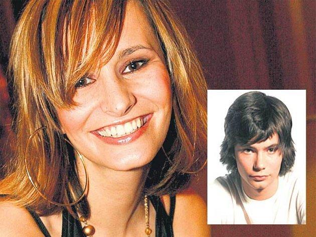 Monika Absolonová a její bratr Marek