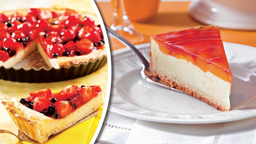 Koláč sovocem a meruňkový dortík