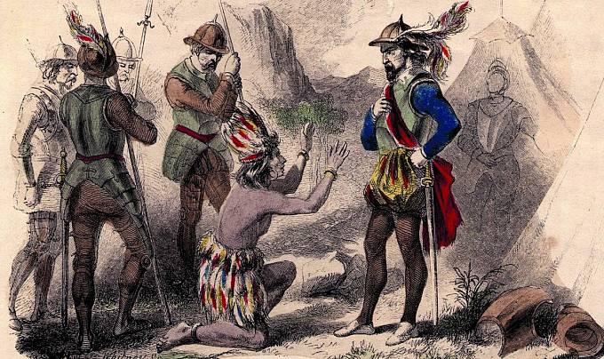 Španělští dobyvatelé neměli sindiány slitování.