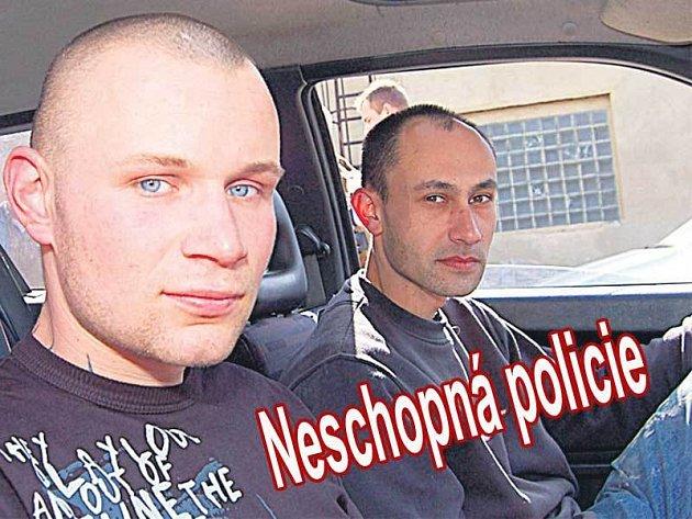 Petr Melichárek celou noc pronásledoval zloděje, na které narazil Tomáš Černý (vpravo).