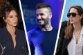 Angelina Jolie, Victoria Beckham a David Beckham