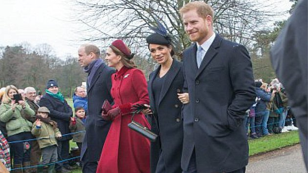 Kate Middleton, Princ William a Harry a Meghan.