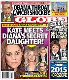 Titulní strana magazínu Globe s titulkem: Kate se setkala s Dianinou utajenou dcerou!