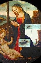 Tajemný obraz Madona a svatý Giovannino, na kterém podle mnohých malíř  Domenico Ghirlandaio nakreslisl i podivnou létající loď.