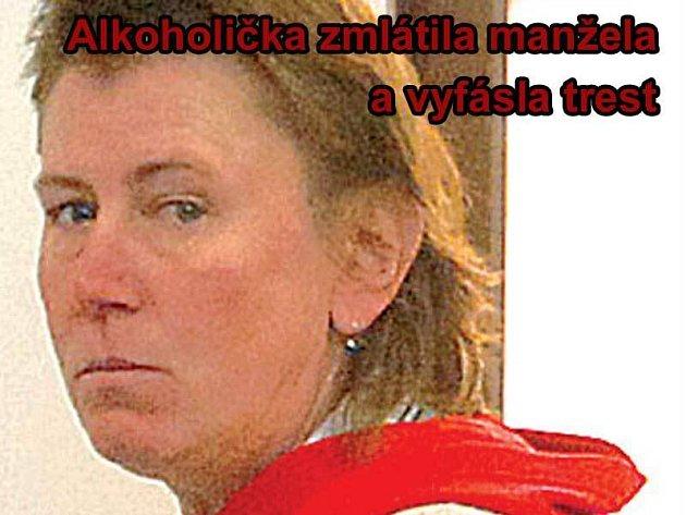 Opilá Jana Záhořová bodla manžela nůžkami do krku.