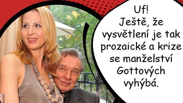 Zprsteníčku Karla Gotta zmizel snubní prsten! Krize vmanželství sIvanou?