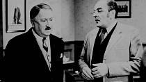 Jaroslav Marvan s Josefem Bláhou při natáčení filmu Pěnička a Paraplíčko.