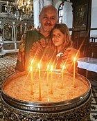Partner Ivy Kubelkové s dcerkou.
