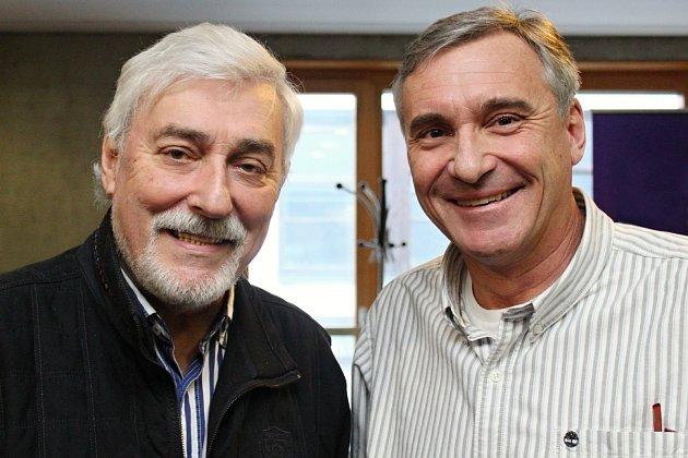 Jan Čenský a Jan Rosák vrozhlasu